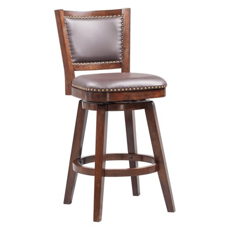 Boraam Broadmoor Swivel Barstool, Multiple Sizes and (Cherry Kitchen Bar Stool)