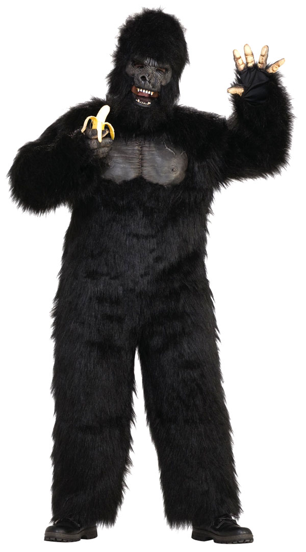 deluxe moving jaw gorilla costume com