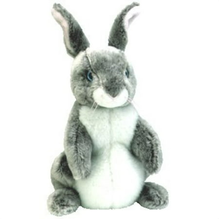 Happy Bunny Rabbit (hopper the gray and white easter bunny rabbit - ty beanie babies)