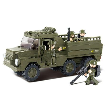 Sluban Military Building Blocks Army Personnel Carrier Educational Bricks Toy Set (230 - Military Toys