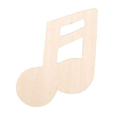 darice 9144-70 natural unfinished wood cutout, double two music note, 3-inch