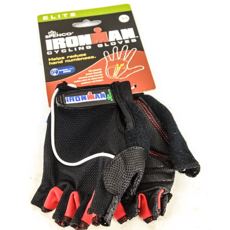 Spenco\Ironman Elite X-Small Road Cycling Gloves Numbness Reducing Black NEW Spenco Cycling Gloves