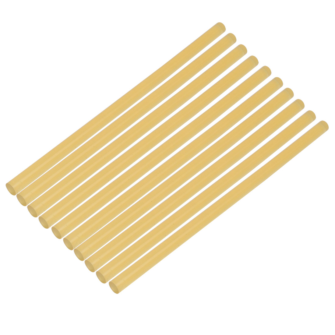 Unique Bargains 10pcs 11mmx270mm Economy Hot Melt Glue Sticks Yellow for DIY Small Craft Project