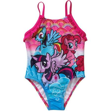 e0294557f538e My Little Pony - Toddler Girl 1-Piece Swimsuit - Walmart.com