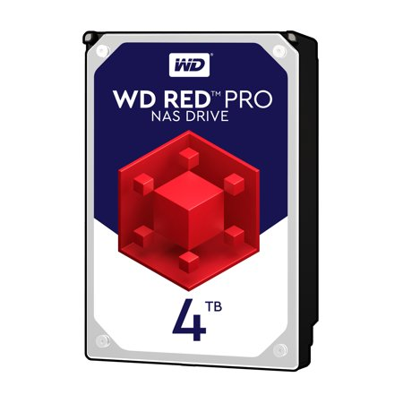 WD Red Pro 4TB NAS Hard Disk Drive - 7200 RPM Class SATA 6Gb/s 128MB Cache 3.5 Inch - (Best Nas Storage For Mac)