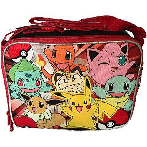 Pokemon Lunch Bag with Adjustable Shoulder Strap - Not Machine Specific, Pokemon Lunch Bag is an officially licensed cool lunch bag for back to school By FAB