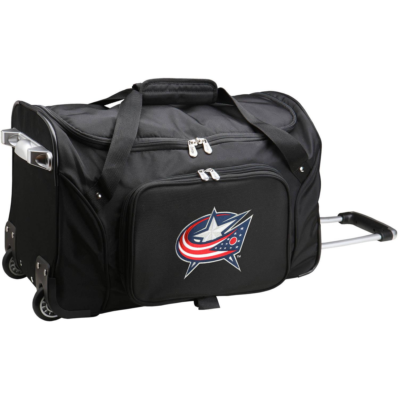 "Denco NHL 22"" Rolling Duffel, Columbus Blue Jackets by Mojo Licensing"