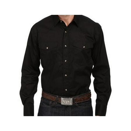Western Shirt Mens L/S Snap Solid Black 03-001-0265-1017 BL