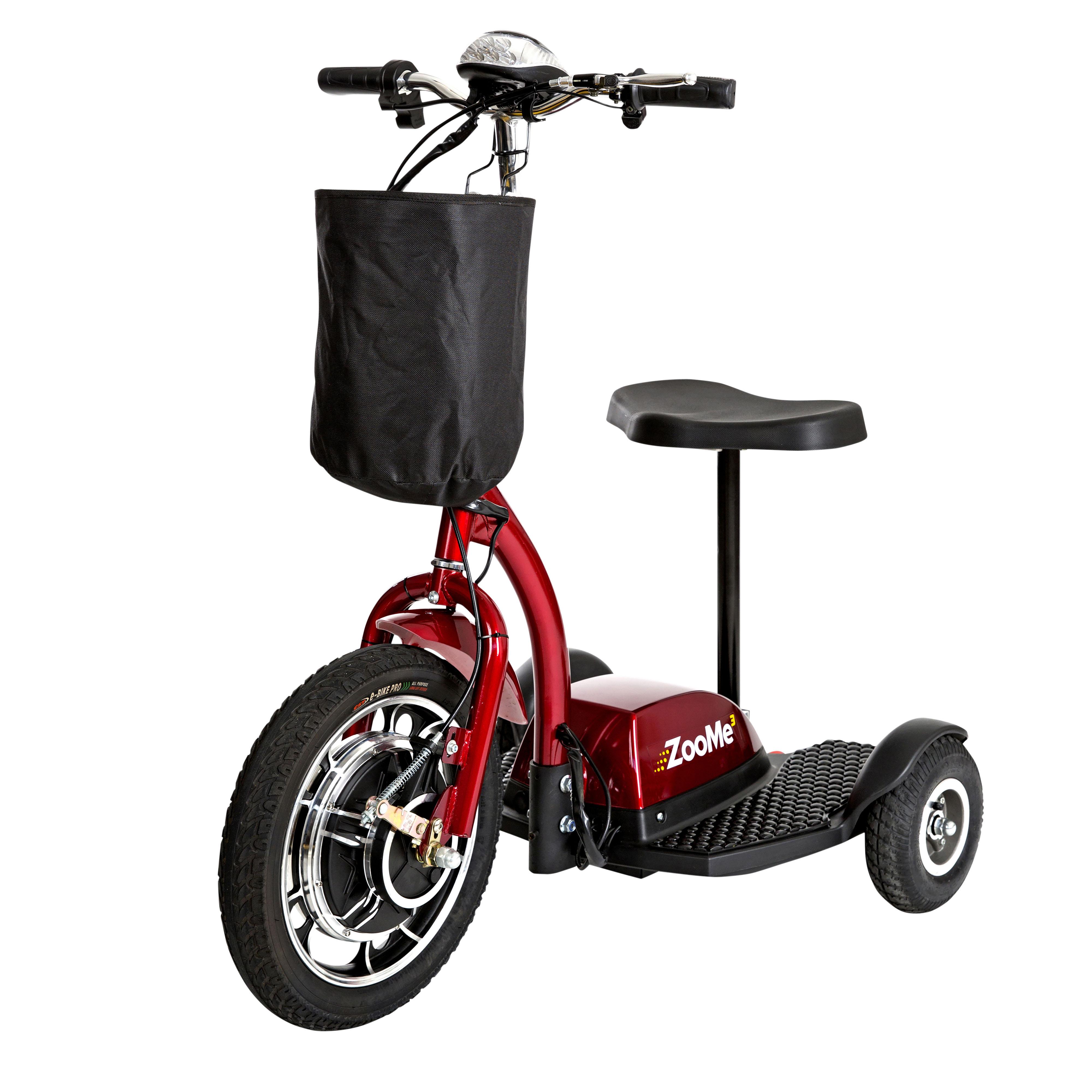 Drive Medical ZooMe Three Wheel Recreational Power Scooter with Peace of Mind Protection Included