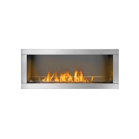 Outdoor 1 Sided Linear Gas Fireplace Natural Gas