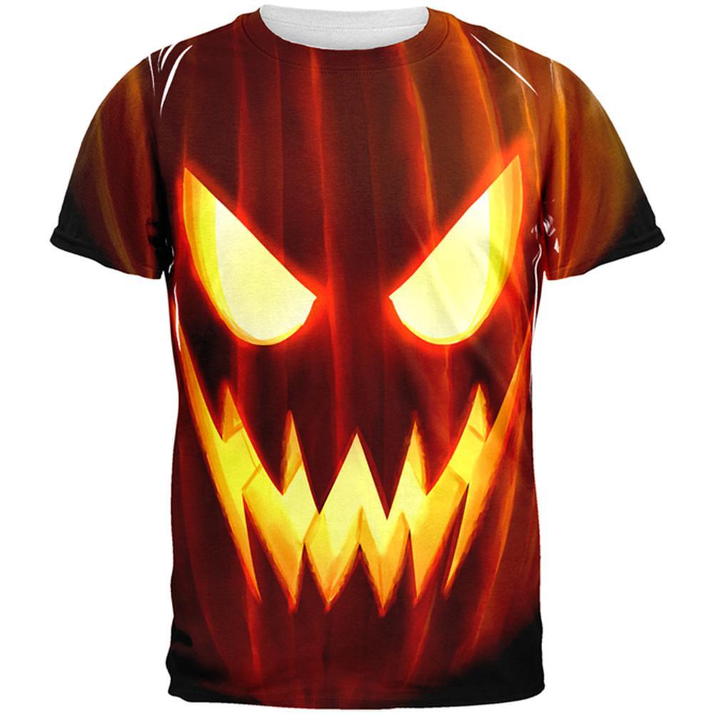Halloween All Over JackOLantern Adult T-Shirt