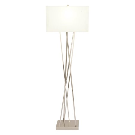 Crossing Lamp - Decmode Eclectic 64 Inch Iron And Stainless Steel Floor Lamp