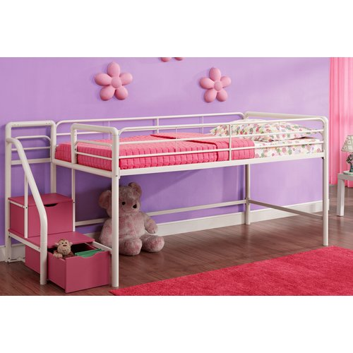 Zoomie Kids Bewley Junior Twin Loft Bed with Storage