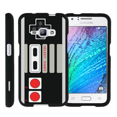 [Samsung Galaxy J1 J120 Case (2016), Samsung Amp 2 Case, Samsung Express 3 Case][Snap Shell] Hard Plastic Slim Fitted Snap on case with Unique Designs by Miniturtle® - Game Controller