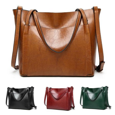 Fashion Women Leather Handbag Large Capacity Ladies Shoulder Crossbody Bag Tote Shopper Satchel Handbag