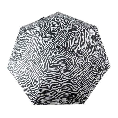 42 Inch Mini Folding Umbrella - Beautiful Zebra Striped Folding Umbrella 42 Inch