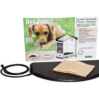 """Dog Palace Colossal Floor Heater for Dog House, Black, 30""""L x 17.50""""W x 1.50""""H"""