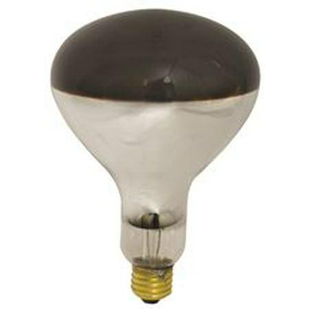 Satco Incandescent Heat Lamp R40, 250 Watt, 120 Volt, Medium Base, Red, 6,000 Average Rated Hours, 12 Per Case