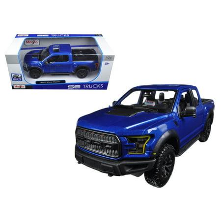 2017 Ford Raptor Pickup Truck Blue 1/24 Diecast Model Car by