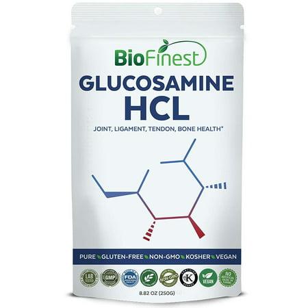 Biofinest Glucosamine HCL Powder - Pure Gluten-Free Non-GMO Kosher Vegan Friendly - Supplement for Joint, Ligament, Tendon, Bone Health