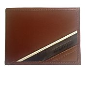 Tommy Hilfiger Mens Tan Slim Passcase Wallet