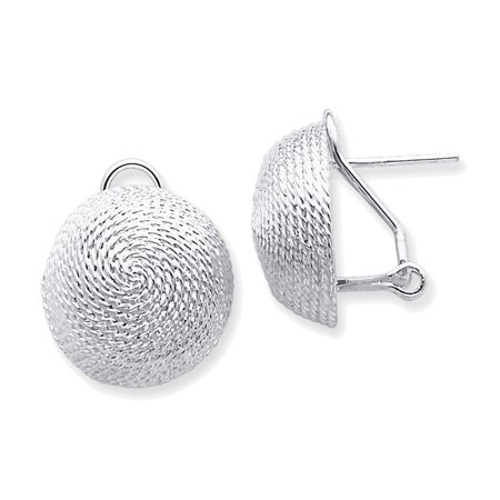 Silver Ball Drop - 925 Sterling Silver Beaded Ball Drop Earrings