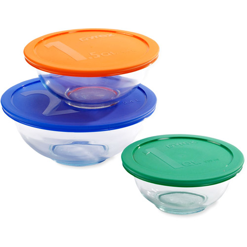 Pyrex Smart Essentials 6-Piece Mixing Bowl Set