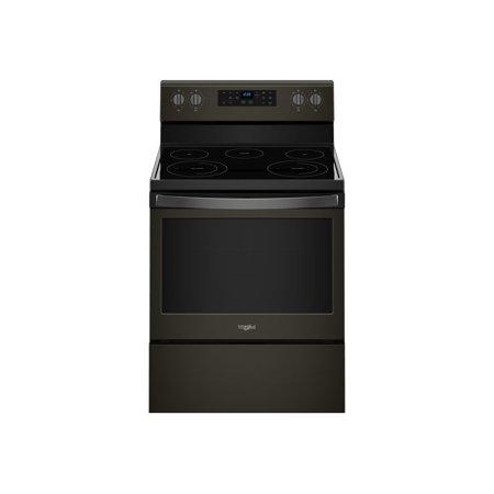 Whirlpool WFE525S0HV - Range - freestanding - niche - width: 30 in - depth: 24 in - height: 36 in - with self-cleaning - black stainless steel