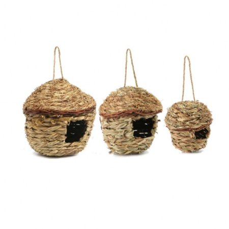Natural Hand-woven Bird Cage Straw Ecological Nest Healthy Eco-friendly Birdhouses Bird Decor L