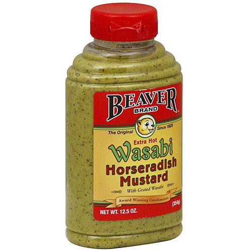 Beaver Brand Wasabi Horseradish Mustard, 12.5 oz (Pack of 6)