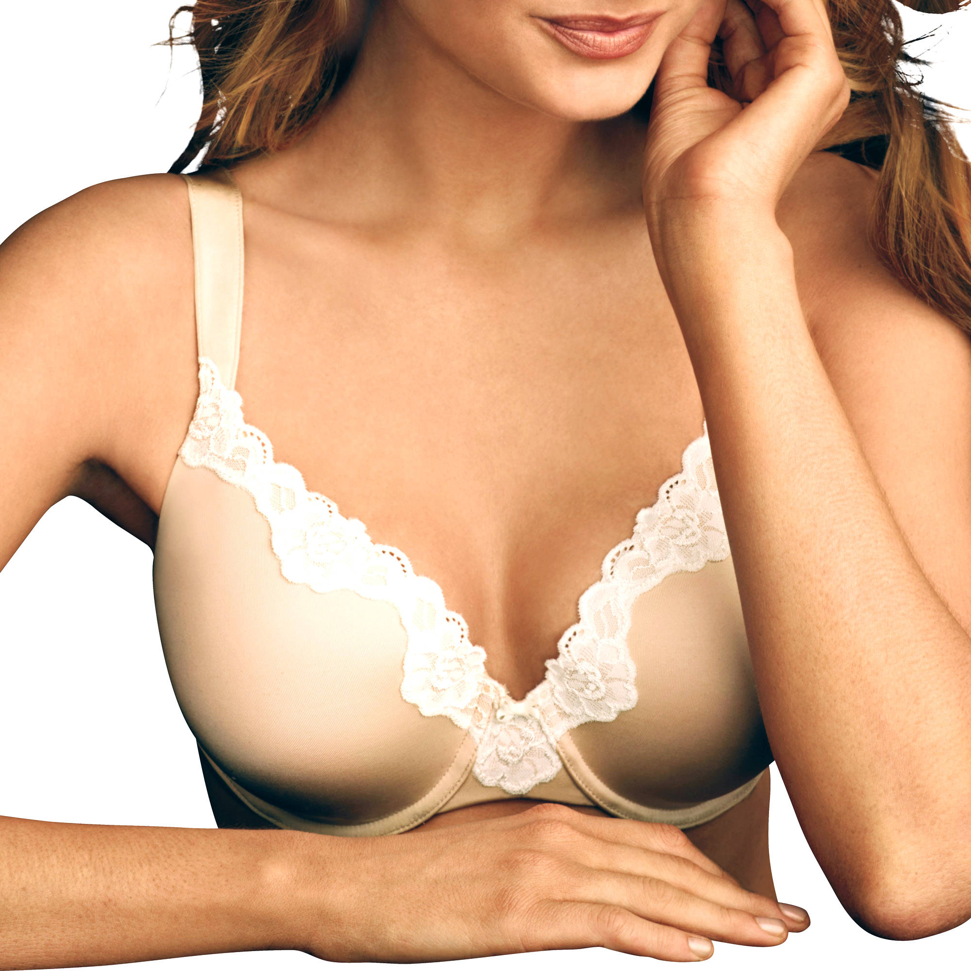 Maidenform Sweet Nothings Extra Coverage Bra with Lace Trim, Style 8135
