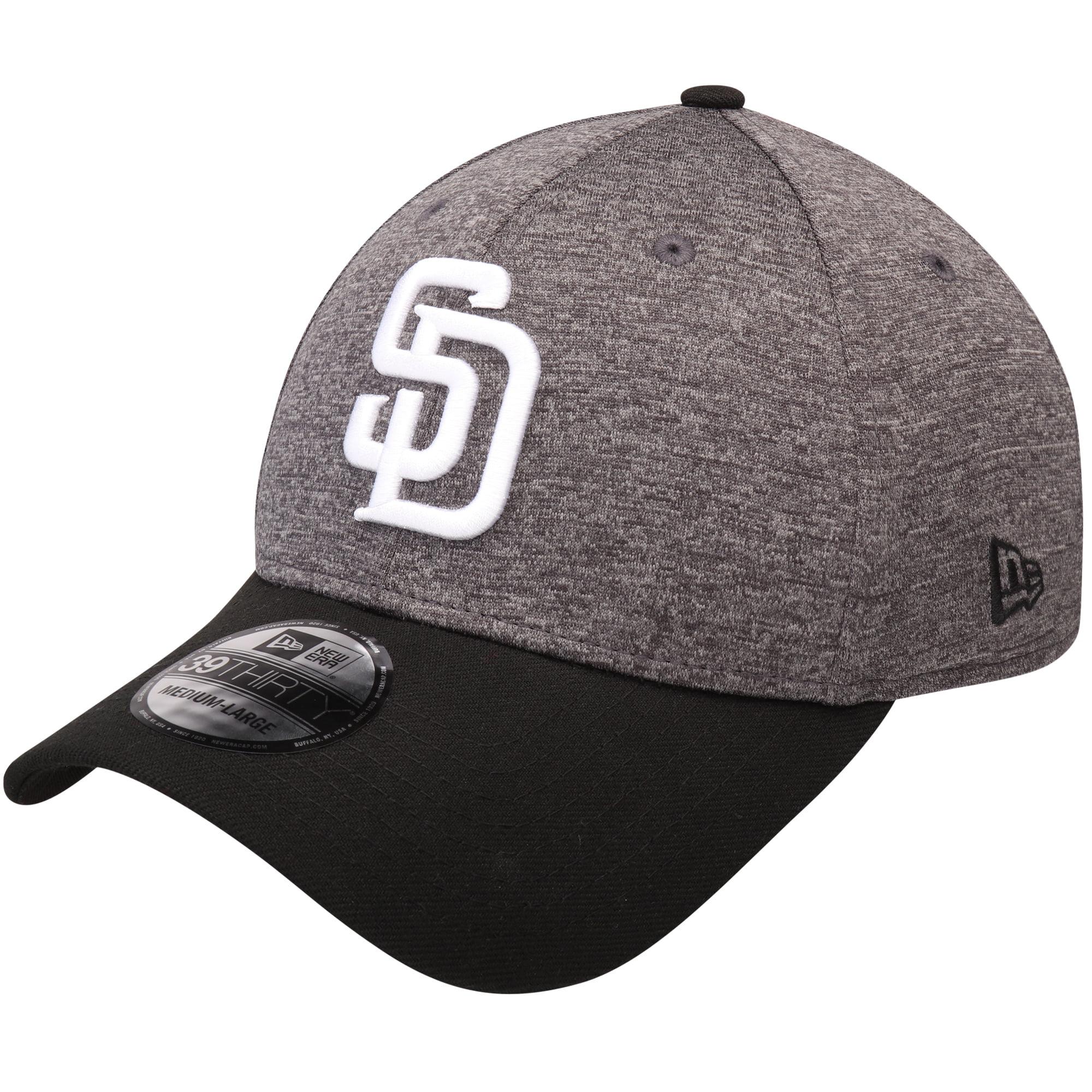 San Diego Padres New Era Shadow Tech 39THIRTY Flex Hat - Heathered Gray/Black