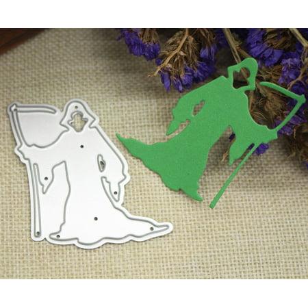 Mosunx Happy Halloween Metal Cutting Dies Stencils Scrapbooking Embossing DIY Crafts - Halloween Scrapbook Tutorial