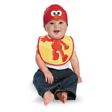 Infant Elmo Bib and Hat Costume by Disguise 57616](Elmo Costume Rental)
