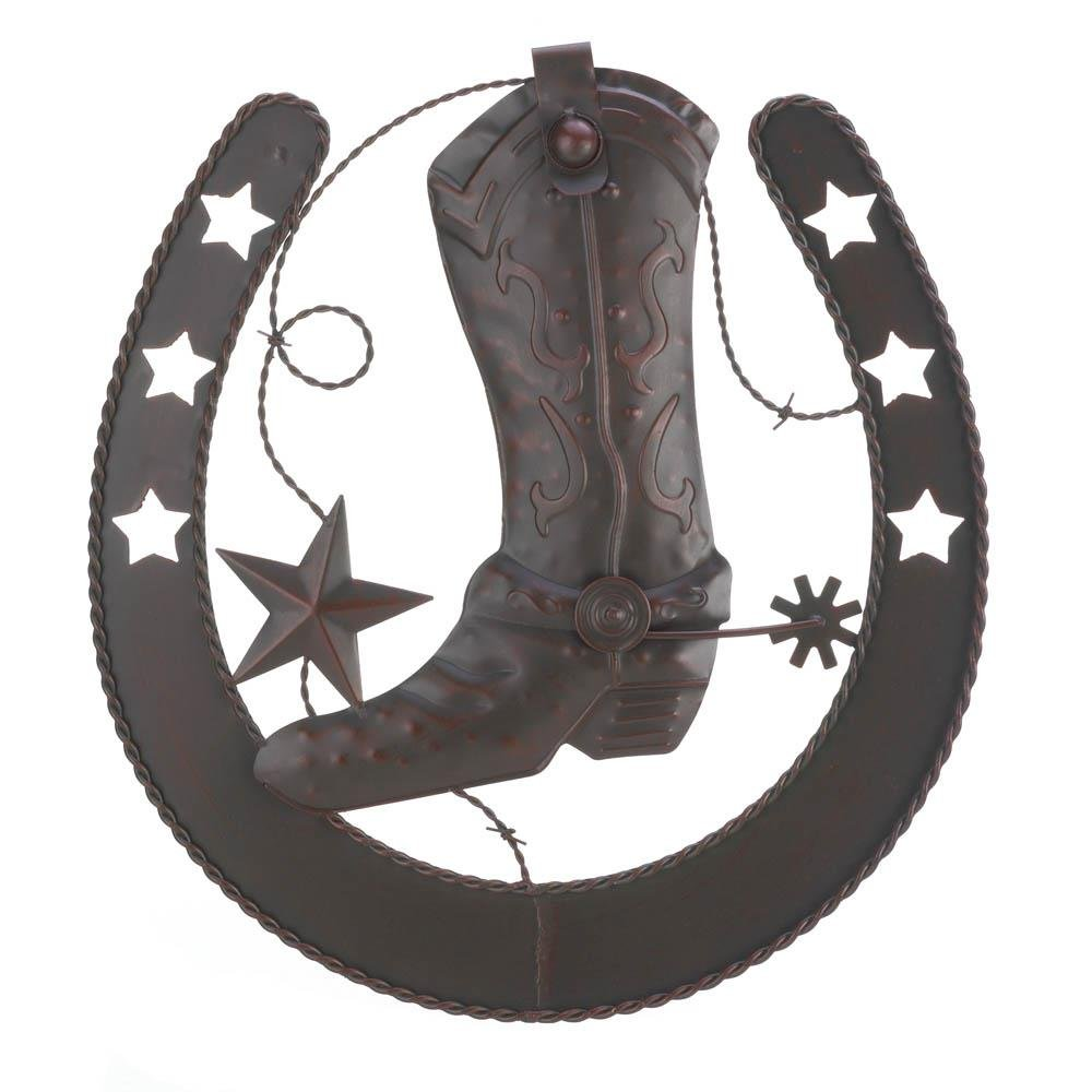 Bathroom Wall Art, Cowboy Boot Living Room Hanging Plaque Wall Art Decor