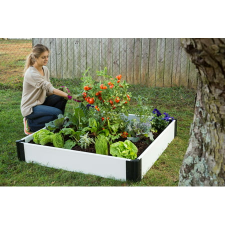 Frame It All Classic White Raised Garden Bed 4 X 4 X 8 1