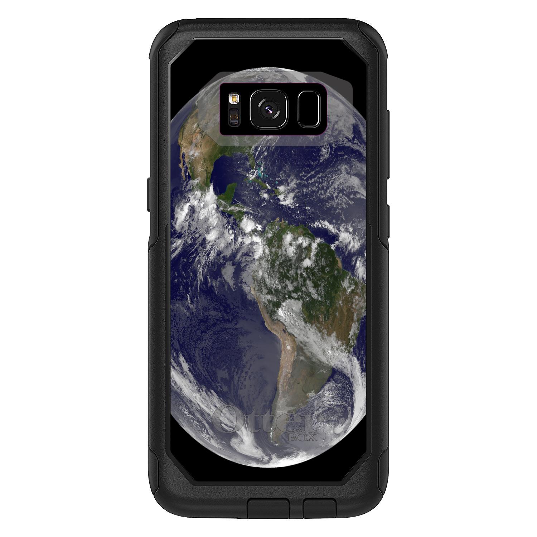 "DistinctInk™ Custom Black OtterBox Commuter Series Case for Samsung Galaxy S8 (5.8"" Screen) - Earth Space Western Hemisphere"