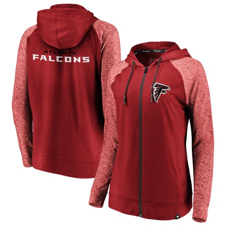 2ece7b02 Atlanta Falcons NFL Pro Line by Fanatics Branded Women's Made to Move Color  Blast Full-Zip Raglan Hoodie - Red/Heathered Red