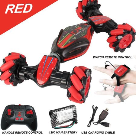 GW124 2.4Ghz RC Off-road Stunt Car Vehicle With Watch Remote Control Induction - image 1 de 5