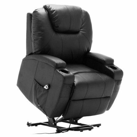 Costway Electric Lift Power Chair Recliner Heated Vibration Massage Sofa with Remote