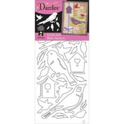 Double Stick Dazzles Stickers-birds-clear