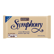Hershey's, Symphony Milk Chocolate with Almonds and Toffee Giant Candy Bar, 6.8 Oz.