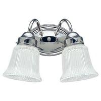 Sea Gull Lighting 4871 Chrome Brookchester 2 Light Bathroom Vanity Light