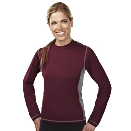 - Tri-Mountain Lady Sidewinder 631 Polyester Knit Pullover Shirt, 2X-Large, Dark Maroon/Steel Gray