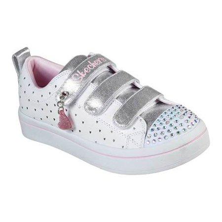 Girls' Skechers Twinkle Toes Twi Lites Heart Cutie Sneaker