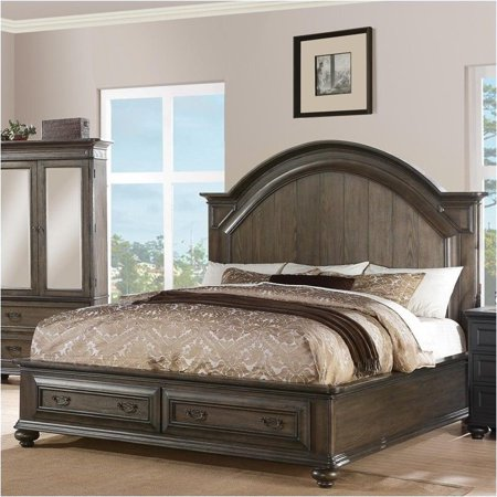 Beaumont Lane California King Panel Storage Bed In Old World Oak