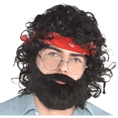 Halloween Costume Ideas With Bandanas (Suit Yourself Up in Smoke Chong Costume Accessory Supplies for Adults, One Size, Include Wig, Bandana, Glasses, and)