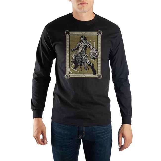 Magic the Gathering LS7ERPMTG02RE00 Bioworld Gideon Mens Long Sleeve Black T-Shirt - Large - 100 Percent Cotton - image 1 de 1