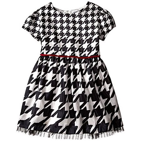 425c995312a Hartstrings - Hartstrings Girls  Houndstooth Woven Dress (3T) - Walmart.com