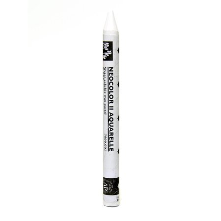 Neocolor II Aquarelle Water Soluble Wax Pastels white (pack of 10)